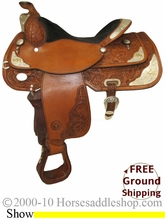 """NO LONGER AVAILABLE PRICE REDUCED! 16"""" Used Circle Y Show Saddle uscy2104 *Free Shipping*"""