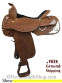"PRICE REDUCED! 16"" Used Circle Y Show Saddle uscy2663 *Free Shipping*"