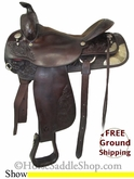 "16"" Used Circle Y Show Saddle uscy2697 *Free Shipping*"