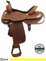 "PRICE REDUCED! 16"" Used Circle Y 2862 Show Saddle uscy3052 *Free Shipping*"
