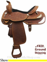 "PRICE REDUCED! 16"" Used Circle Y Show Saddle uscy3052 *Free Shipping*"