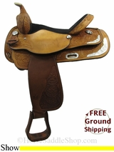 "16"" Used Circle Y Show Saddle uscy3131 *Free Shipping*"