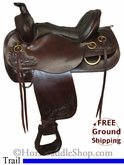 "PRICE REDUCED! 16"" Used Circle Y Trail Saddle uscy2582 *Free Shipping*"