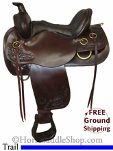 """SOLD 2014/08/12 $999 PRICE REDUCED! 16"""" Used Circle Y Trail Saddle uscy2582 *Free Shipping*"""