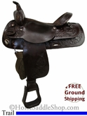 "SOLD 2014/03/07 $699.50 PRICE REDUCED! 16"" Used Circle Y Trail Saddle uscy2675 *Free Shipping*"