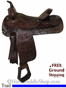 "SOLD 2014/10/08 $619 PRICE REDUCED! 16"" Used Circle Y Trail Saddle uscy2708 *Free Shipping*"