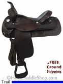 "16"" Used Circle Y Trail Saddle uscy2713 *Free Shipping*"