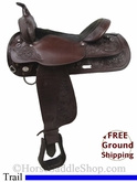 "16"" Used Circle Y Trail Saddle uscy2769 *Free Shipping*"