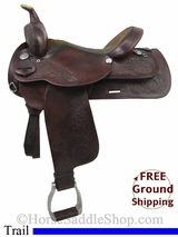 """SOLD 2014/08/06 $721.30 PRICE REDUCED! 16"""" Used Circle Y Trail Saddle uscy2770 *Free Shipping*"""