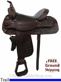 "16"" Used Circle Y Trail Saddle uscy2797 *Free Shipping*"