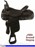 "SOLD 2014/07/09 $825 16"" Used Circle Y Trail Saddle uscy2818 *Free Shipping*"