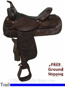 "SOLD 2014/09/22 $769.50 PRICE REDUCED! 16"" Used Circle Y Trail Saddle uscy2844 *Free Shipping*"