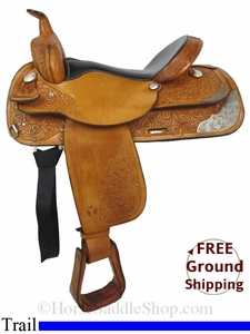 "SOLD 2014/07/03 $825 16"" Used Circle Y Trail Saddle uscy2847 *Free Shipping*"