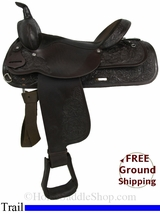 "PRICE REDUCED! 16"" Used Circle Y Trail Saddle uscy2848 *Free Shipping*"