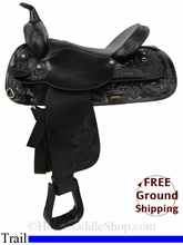 "16"" Used Circle Y Trail Saddle uscy2853 *Free Shipping*"