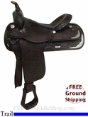 "16"" Used Circle Y Trail Saddle uscy2862 *Free Shipping*"