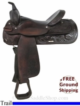 "PRICE REDUCED! 16"" Used Circle Y Trail Saddle uscy2914 *Free Shipping*"