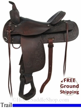 "PRICE REDUCED! 16"" Used Circle Y Trail Saddle uscy2923 *Free Shipping*"