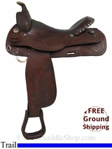 "PRICE REDUCED! 16"" Used Circle Y Trail Saddle uscy2925 *Free Shipping*"