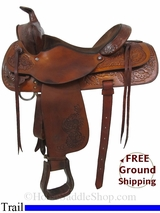 "16"" Used Circle Y Trail Saddle uscy2957 *Free Shipping"""