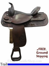"PRICE REDUCED! 16"" Used Circle Y Trail Saddle uscy3058 *Free Shipping*"