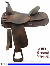 "PRICE REDUCED! 16"" Used Circle Y Trail Saddle uscy3074 *Free Shipping*"