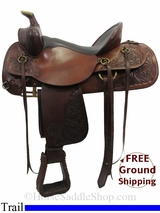 "16"" Used Circle Y Trail Saddle uscy3143 *Free Shipping*"