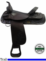 "PRICE REDUCED! 16"" Used Circle Y 3604 Trail Saddle uscy3200 *Free Shipping*"