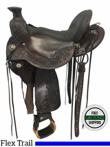 "SOLD 2017/01/12  16"" Used Circle Y Walnut Grove Wide Flex2 Trail Saddle 1157 uscy3677 *Free Shipping*"