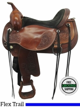 """SOLD 2016/08/15  16"""" Used Circle Y Wide Flex Trail Saddle 15522604050406 uscy3524 *Free Shipping*"""