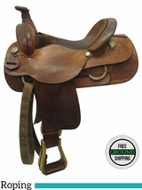 "16"" Used Circle Y Wide Roper Saddle 3162 uscy3553 *Free Shipping*"
