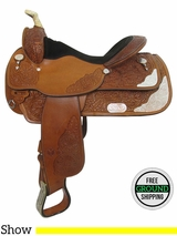 "SOLD 2016/06/04 16"" Used Circle Y Wide Show Saddle 2840 uscy3469 *Free Shipping*"