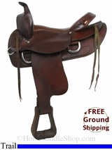 "PRICE REDUCED! 16"" Used Clover Bar Trail Saddle, Wide Tree uscb2959 *Free Shipping*"