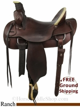 "PRICE REDUCED! 16"" Used Colorado Saddlery Ranch Saddle, Wide Tree uscs2839 *Free Shipping*"