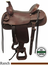 "16"" Used Colorado Saddlery Wide Rancher 0-320 uscd3560 *Free Shipping*"