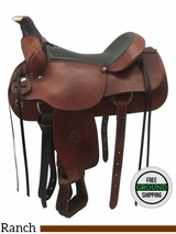"""16"""" Used Colorado Saddlery Wide Rancher 0-55 usco3724 *Free Shipping*"""
