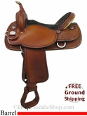 "16"" Used Crates Meleeta Brown Barrel Racing Saddle uscr2793 *Free Shipping*"