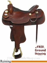 "16"" Used Crates Reining Saddle, Wide Tree uscr2869 *Free Shipping*"