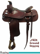 "16"" Used Crates Roping Saddle, Wide Tree uscr3209 *Free Shipping*"