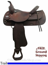 "PRICE REDUCED! 16"" Used Crates Trail Saddle uscr2994 *Free Shipping*"