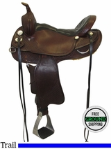 "SOLD 2016/06/10 16"" Used Crates Wide Trail Saddle 2175-4, uscr3454 *Free Shipping*"
