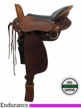"16"" Used CTK Saddlery Medium Gaited Enurdance Saddle 300920180154 usck3343 *Free Shipping*"