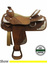 "16"" Used Double J Show Saddle, Wide Tree usdj3221 *Free Shipping*"