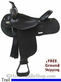 "SOLD 2014/02/20 $356.25 PRICE REDUCED! 16"" Used Fabtron Trail Saddle usfb2695 *Free Shipping*"