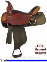 """SOLD 2014/10/24 $575 16"""" Used Fabtron Trail Saddle, Wide Tree usfb2842 *Free Shipping*"""