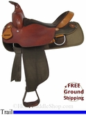"16"" Used Fabtron Trail Saddle, Wide Tree usfb2842 *Free Shipping*"