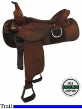 """SOLD 2016/09/15  16"""" Used Fabtron Wide Trail Saddle 7134 B usfb3448 *Free Shipping*"""