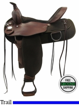"""SOLD 2016/01/28 16"""" Used Fabtron Wide Trail Saddle 7154 usfb3331 *Free Shipping*"""