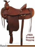 "16"" Used Harry Adams Ranch Saddle usha2791 *Free Shipping*"
