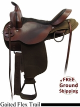 """SOLD 2015/09/29 PRICE REDUCED! 16"""" Used High Horse Gaited Flex Trail Saddle ushh3199 *Free Shipping*"""